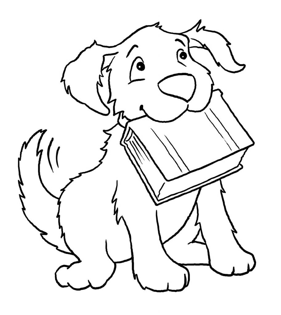 Easy Coloring Pages - Dog