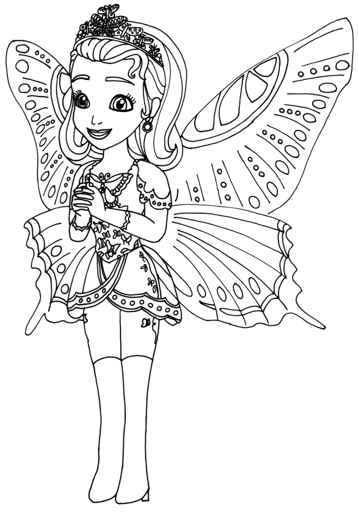 Fairy Sofia the First Coloring Pages