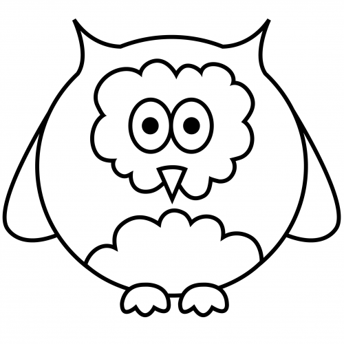 free easy coloring pages owl