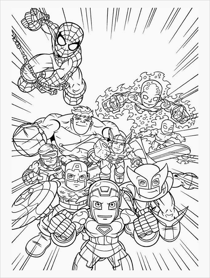 Free - Marvel Coloring Pages