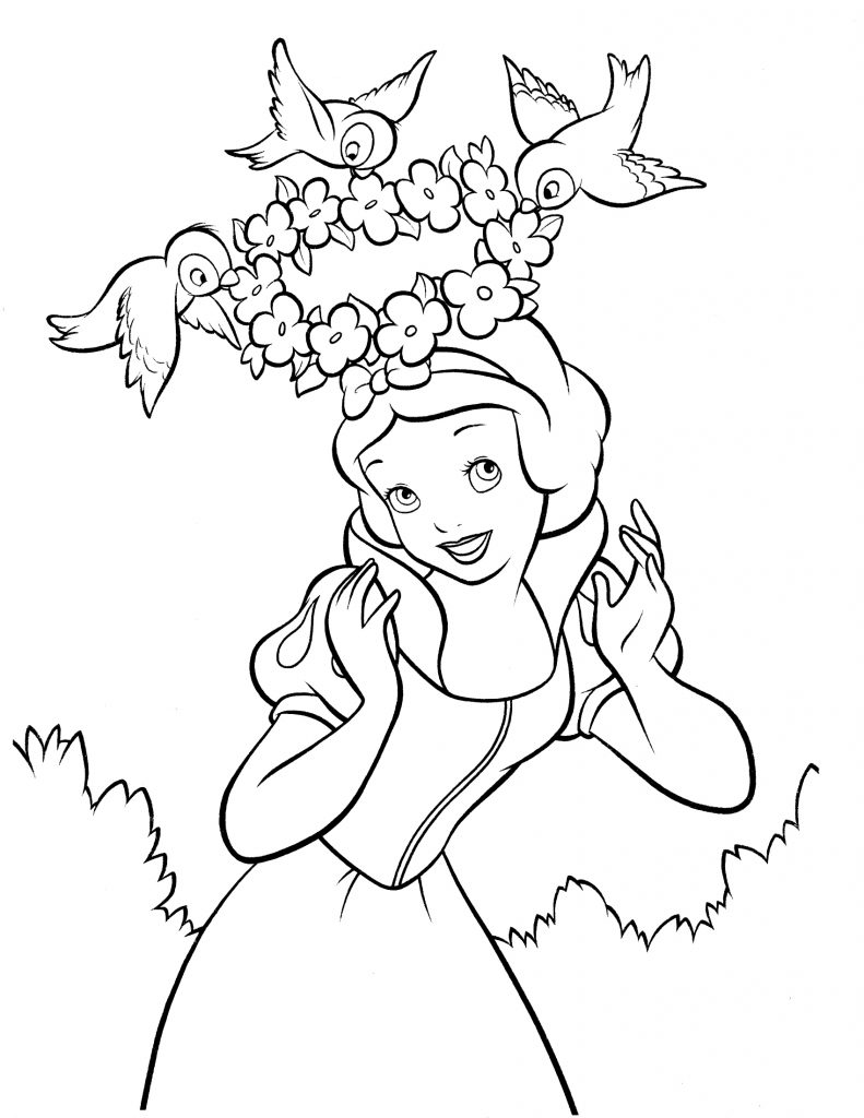 Free Snow White Coloring Printable