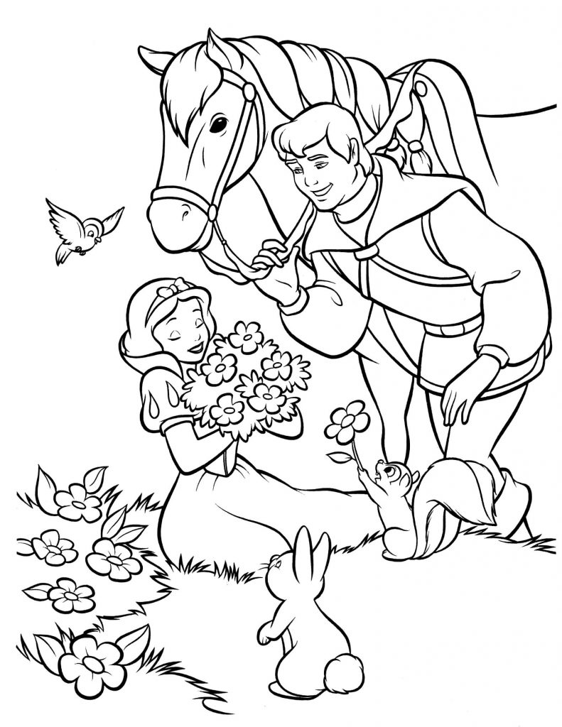 coloring pages snaow white - photo#28