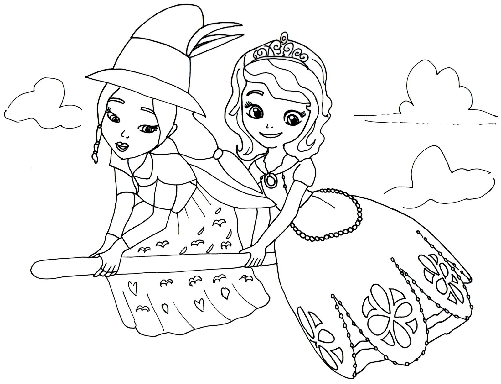 Princess Sofia The First Coloring Pages Tag: 32 Sofia The First ... | 1225x1600