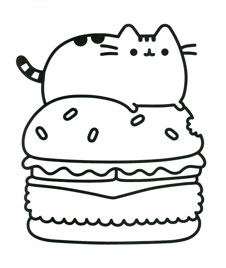 KittyBurger Kawaii Coloring Pages