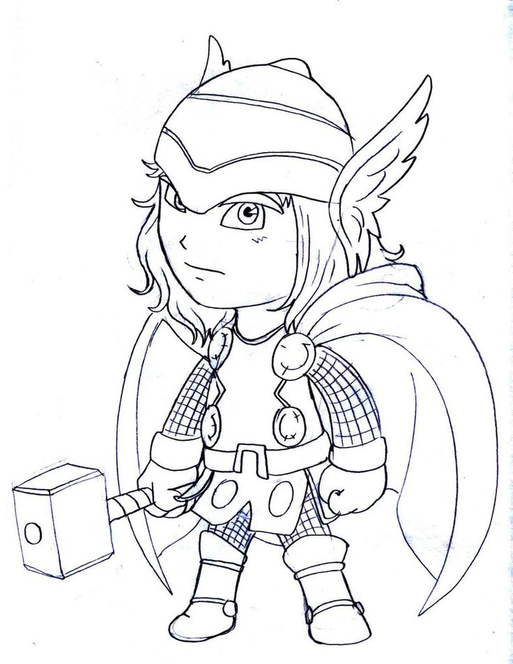 Little Girl Thor Marvel Coloring Pages