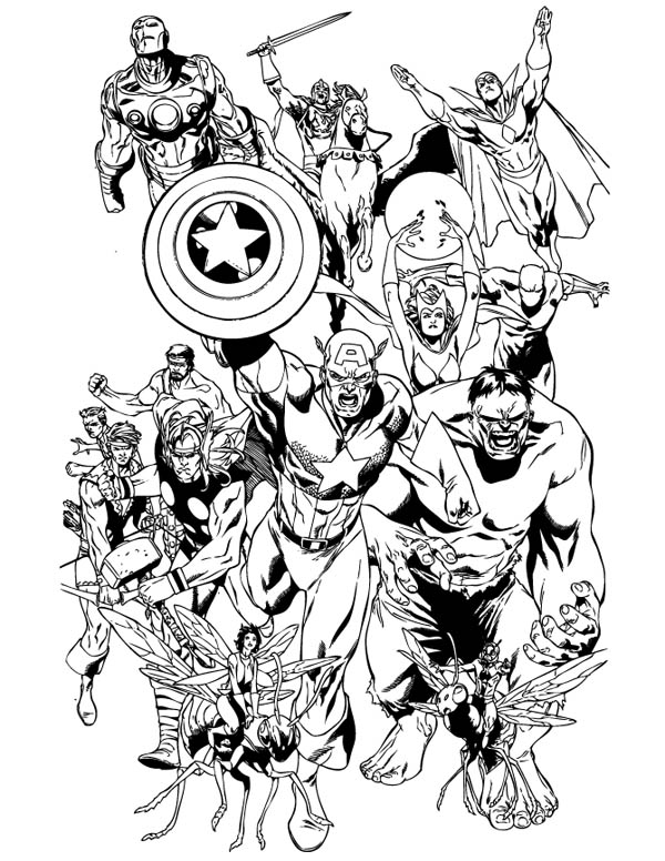 47 Coloring Pages For Adults Marvel Pictures
