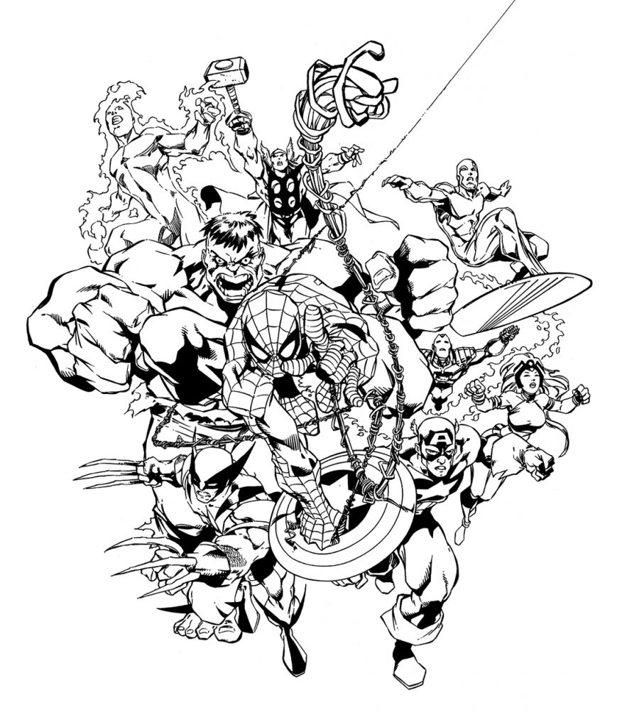 Print Free Marvel Coloring Pages
