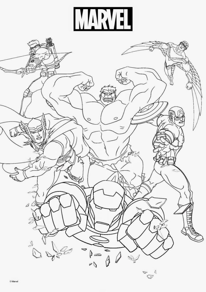 Print Marvel Coloring Pages
