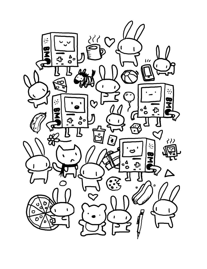 Printable Kawaii Coloring Pages