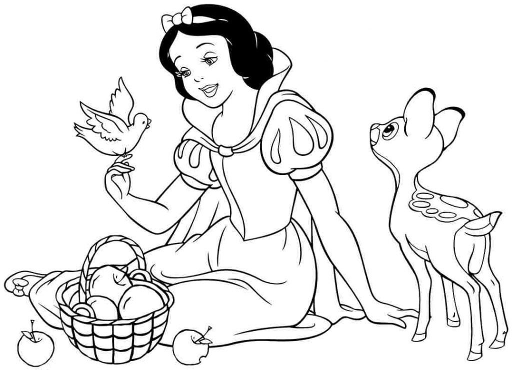 Snow White Coloring Image