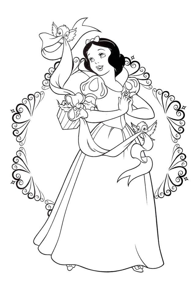 coloring pages snaow white - photo#17