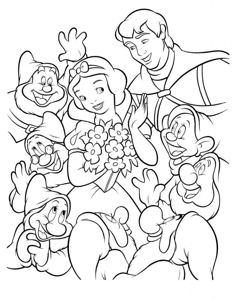 coloring pages snaow white - photo#13