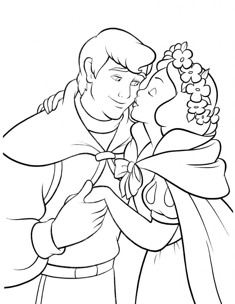 Snow White Someday Coloring Page
