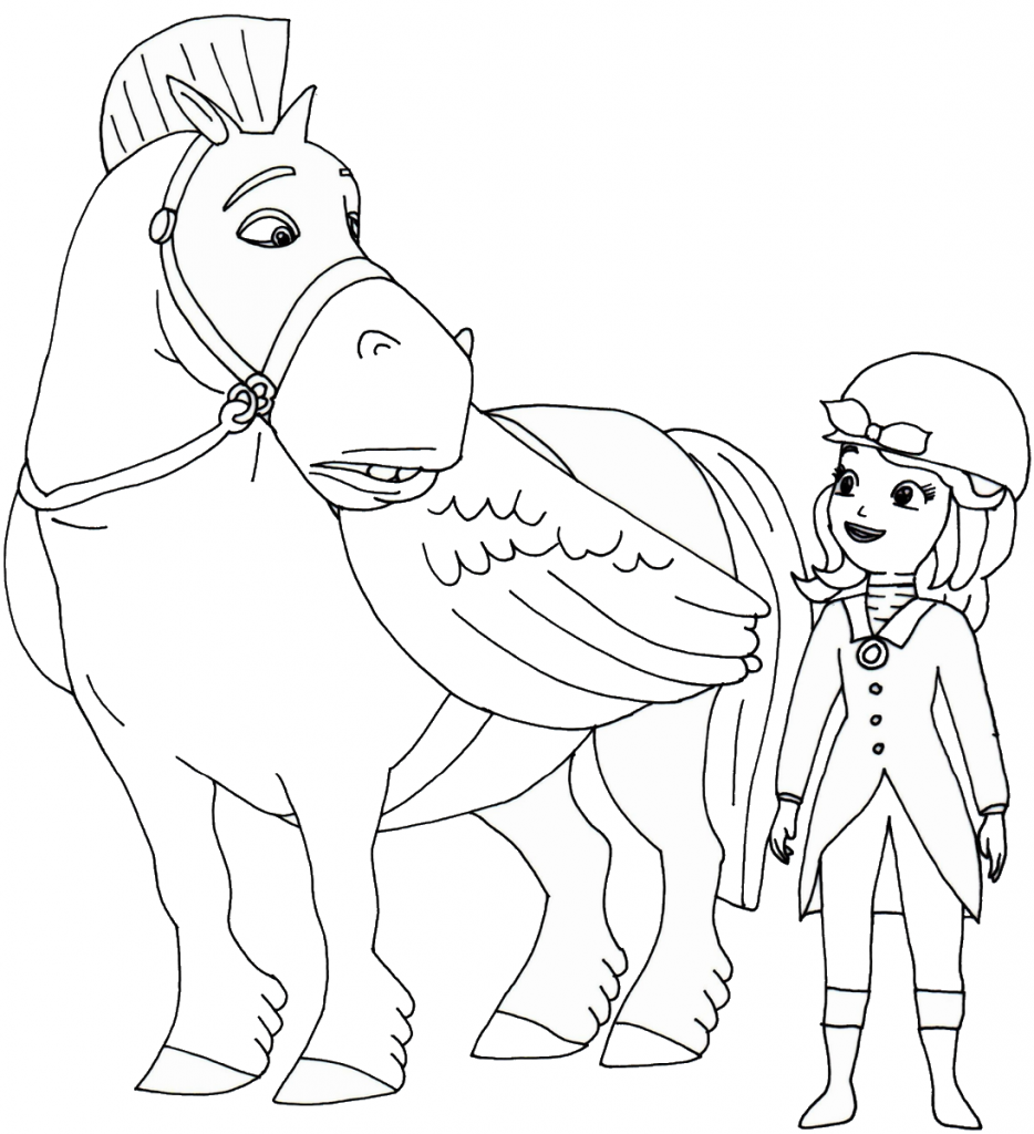 Sofia the First and Minimus Coloring Pages
