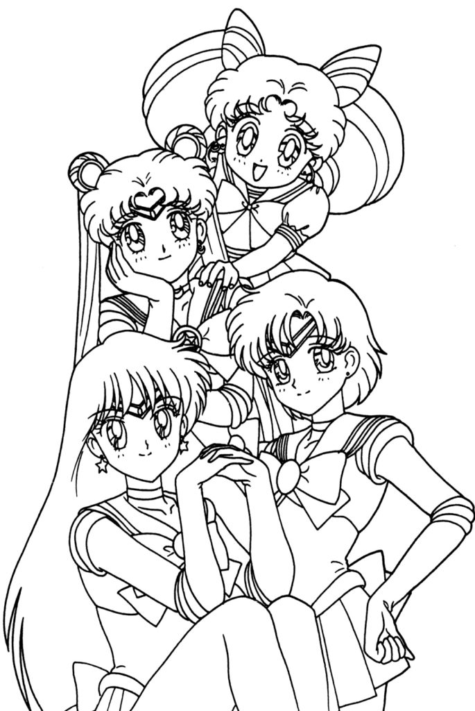 Crafty image pertaining to anime coloring pages printable