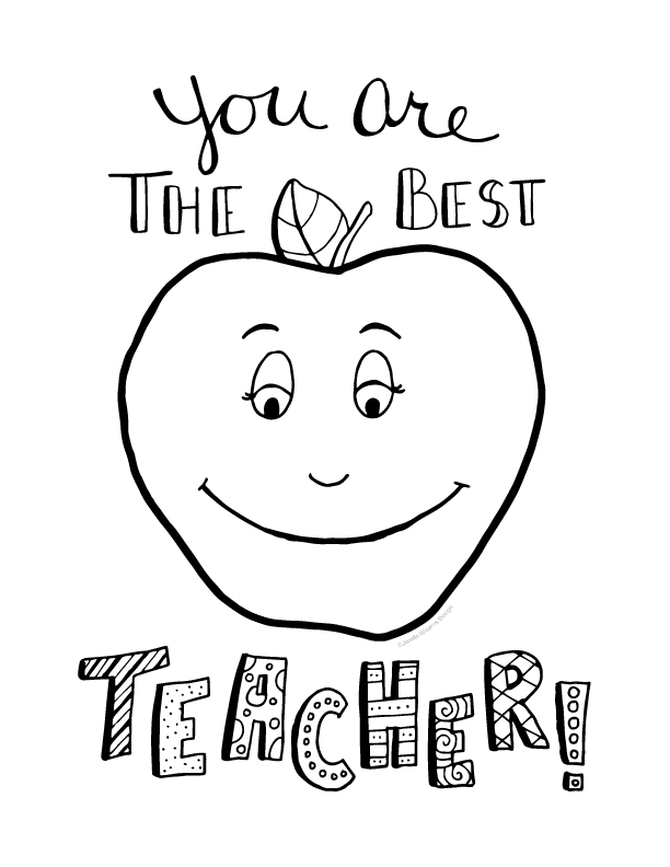 Best Teacher Coloring Pages Free
