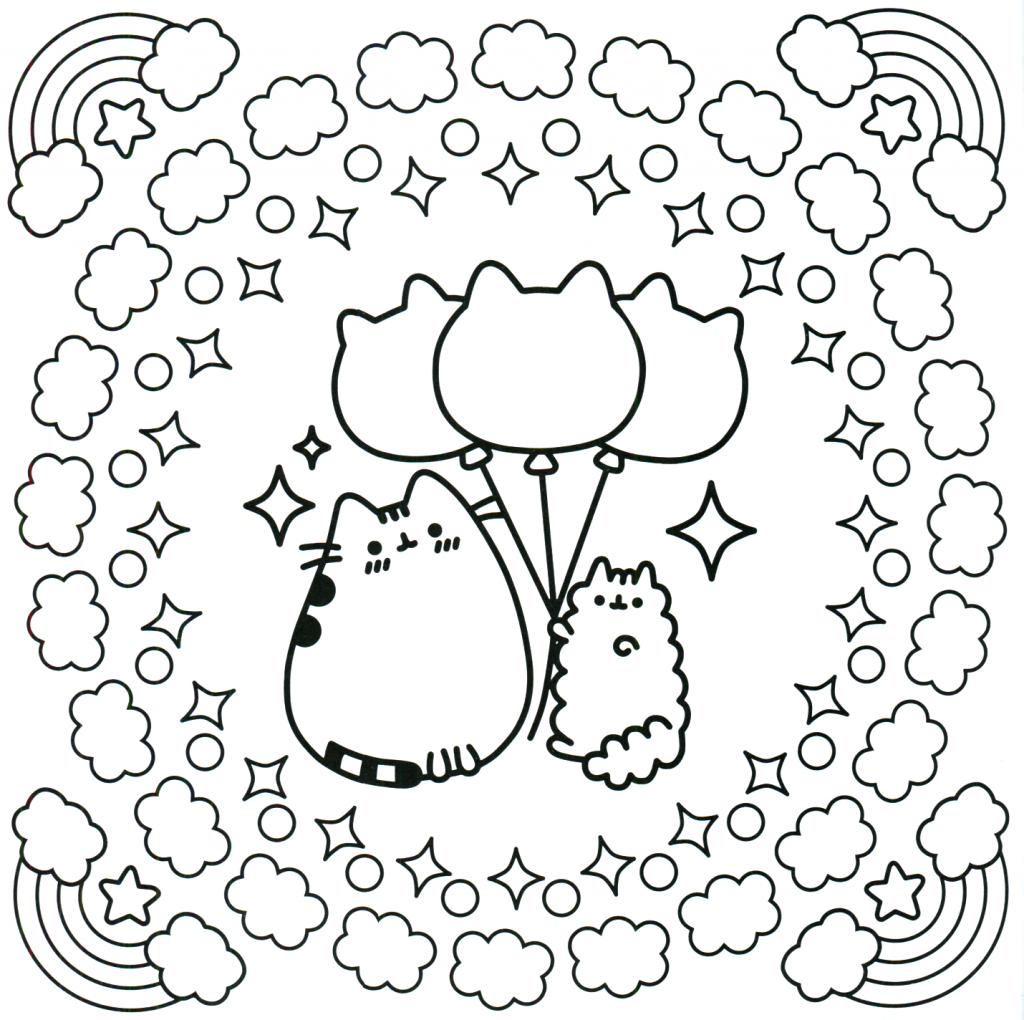 Cute Pusheen Coloring Pages