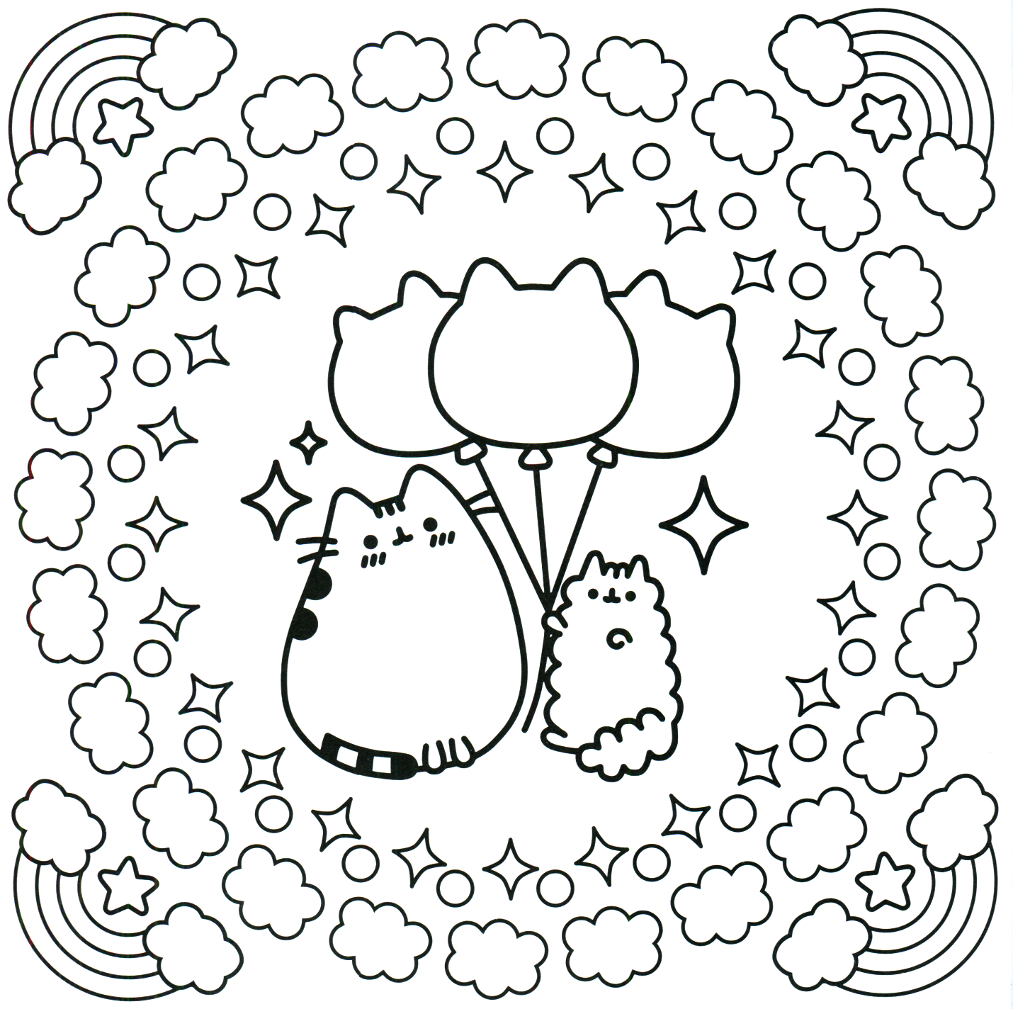 Pusheen coloring pages best coloring pages for kids for Cute coloring book pages
