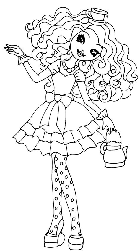 Ever After High Coloring Page Free Printable