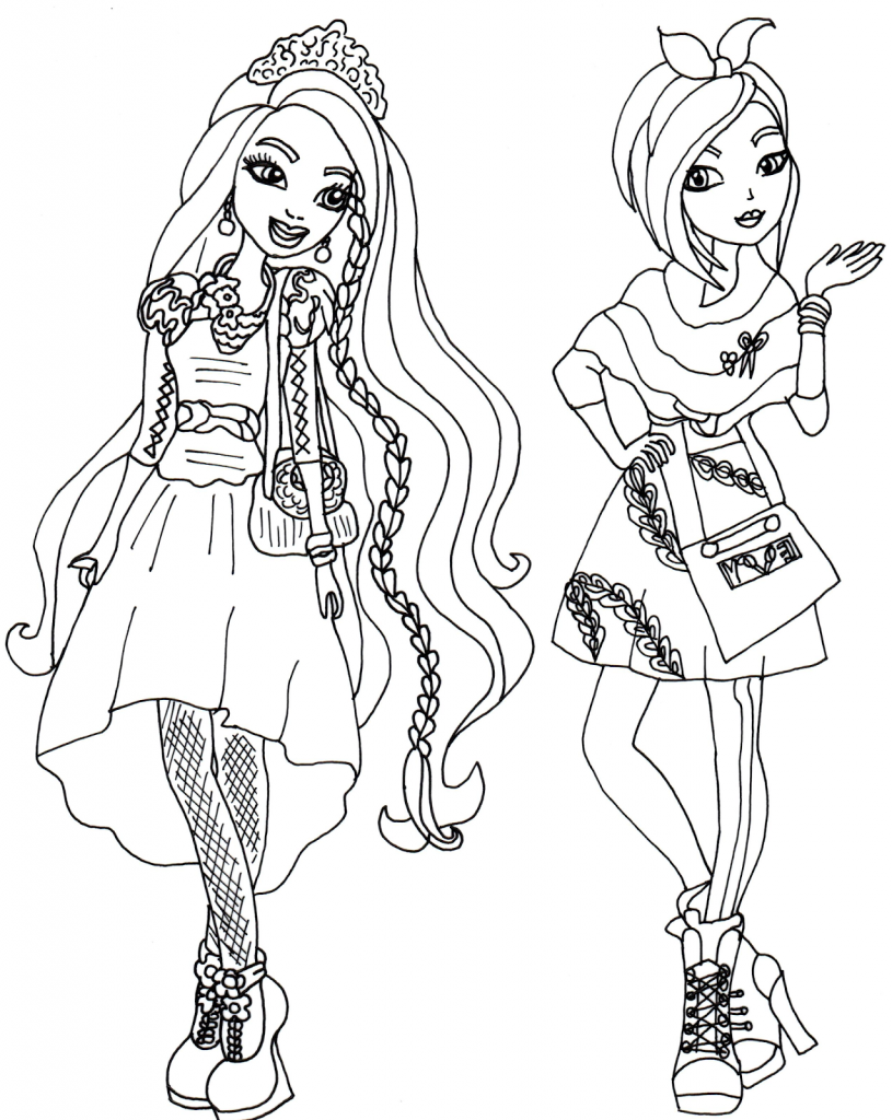 Free Ever After High Coloring Pages