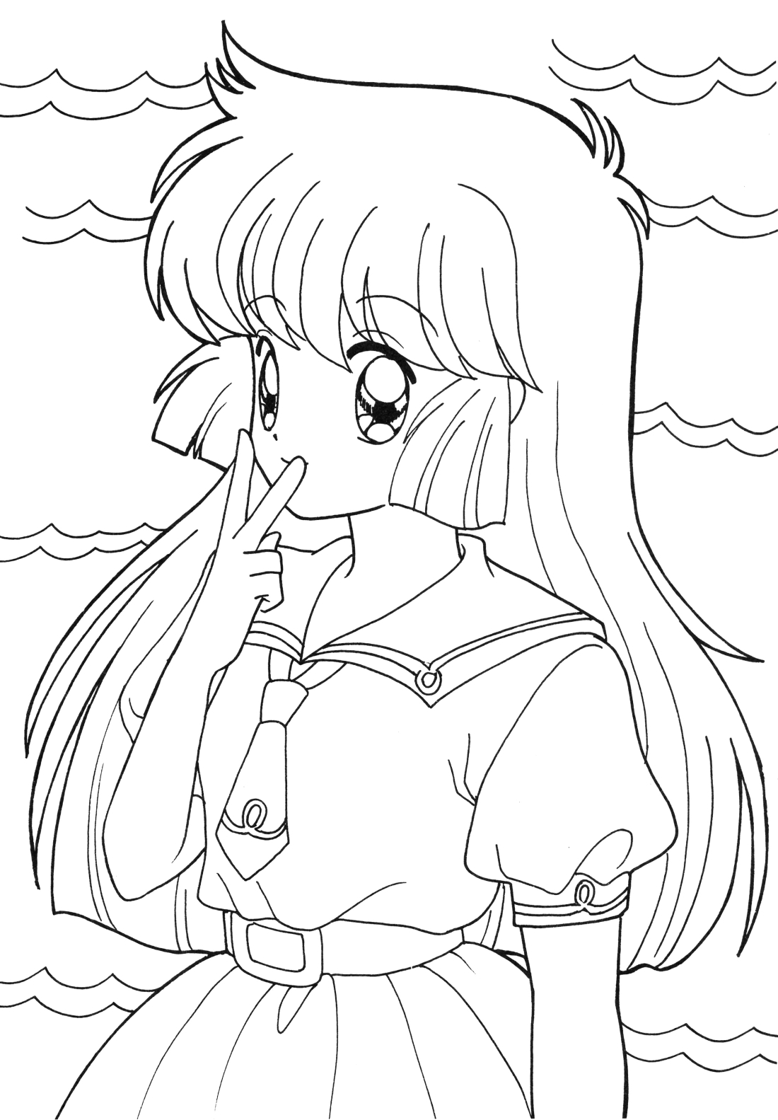 graphic regarding Printable Anime Coloring Pages called Anime Coloring Internet pages - Perfect Coloring Webpages For Young children