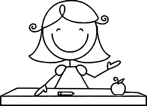 Free Teacher Coloring Pages Printable