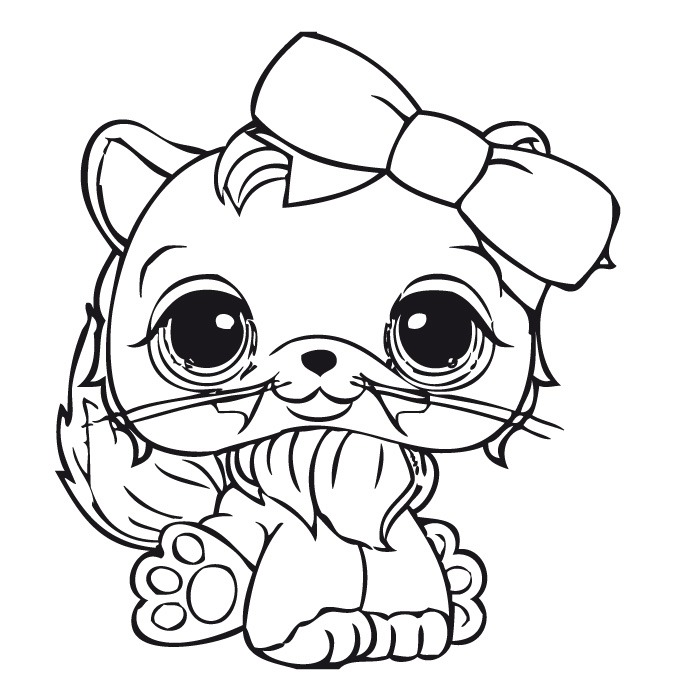 LPS Cat Coloring Pages