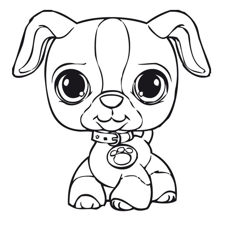 LPS Dog Coloring Page