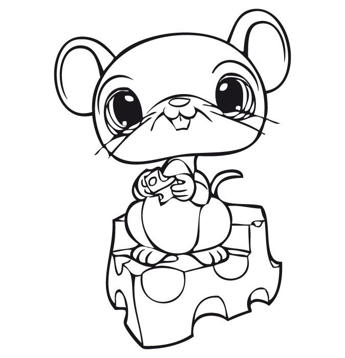 LPS Mouse Coloring Page
