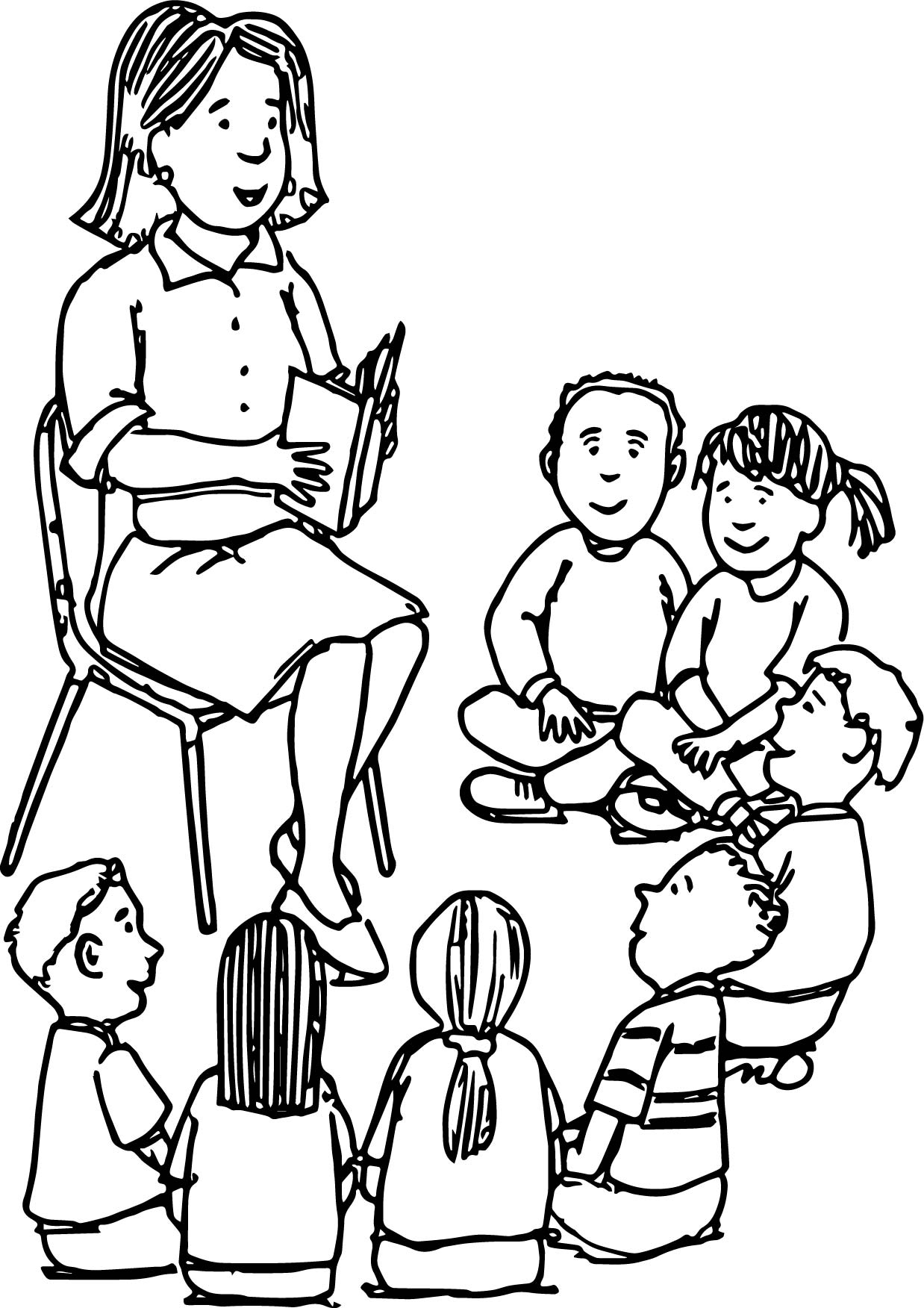 coloring pages of teachers - photo#4