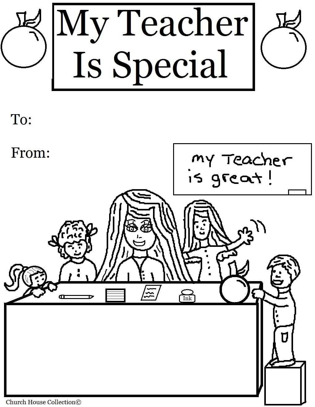 graphic relating to Free Printable Teacher Appreciation Cards to Color referred to as Instructor Coloring Web pages - Easiest Coloring Web pages For Children