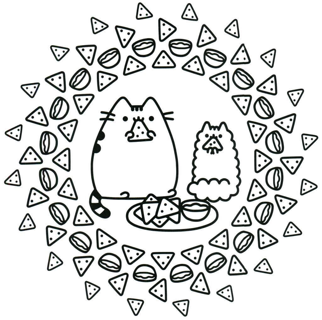 Nacho Cats - Pusheen Coloring Pages