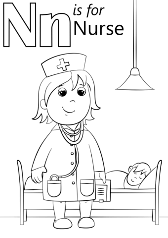 Nurse Coloring Pages for Preschoolers