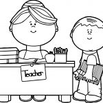 Print Teacher Coloring Pages