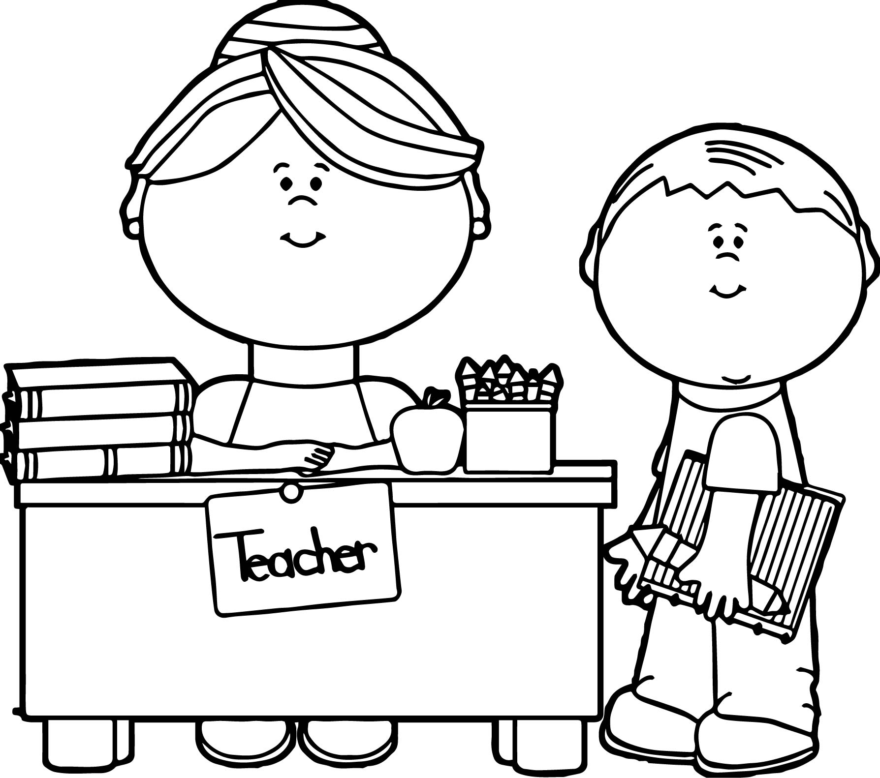 coloring pages of teachers - photo#3