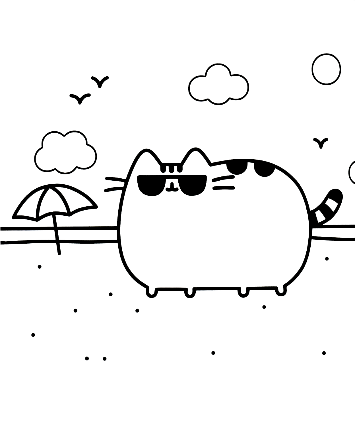 pusheen coloring pages printable Pusheen Coloring Pages   Best Coloring Pages For Kids pusheen coloring pages printable
