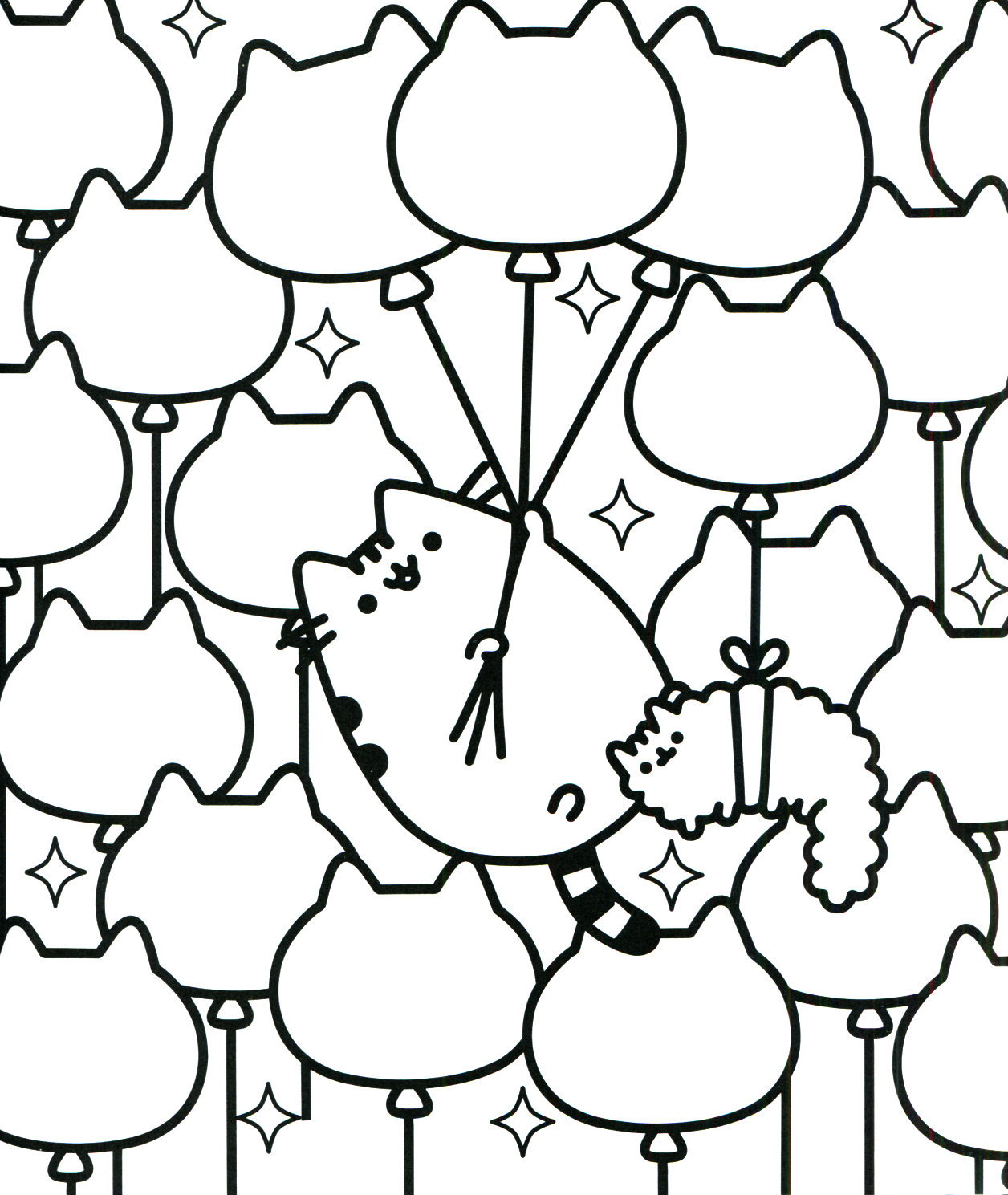 Pusheen coloring pages best coloring pages for kids for Printable cat coloring pages