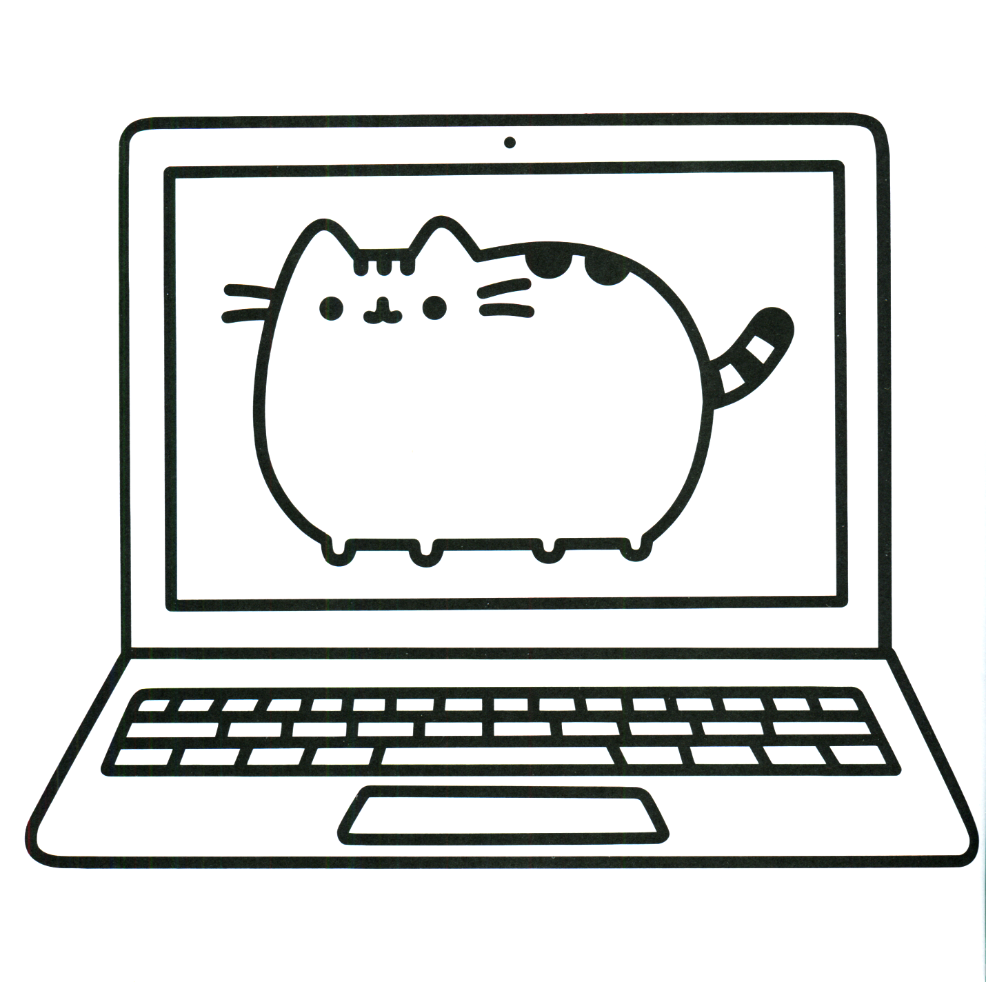 Pusheen Coloring Pages Cat Screensaver