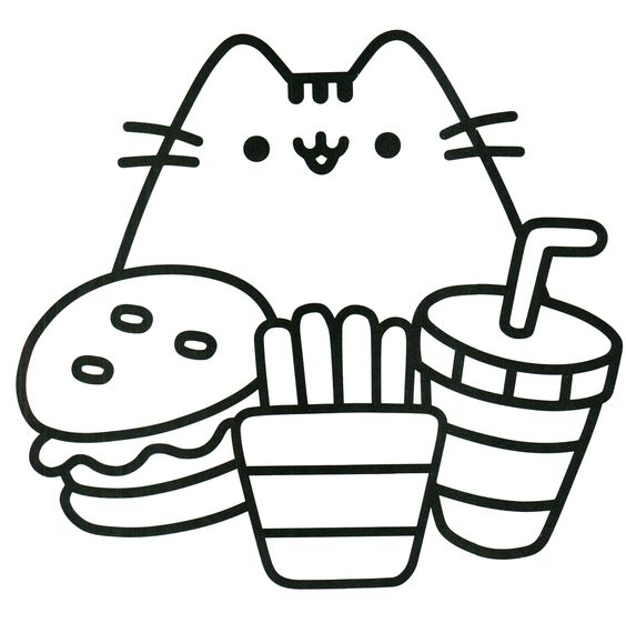 Pusheen Coloring Pages Free Printables