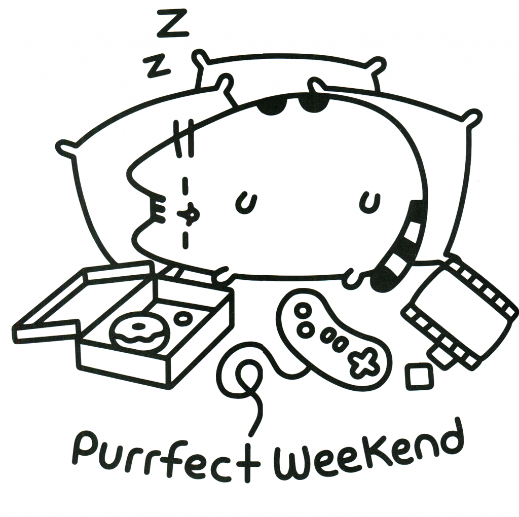 Pusheen Coloring Pages - Sleepy Cat