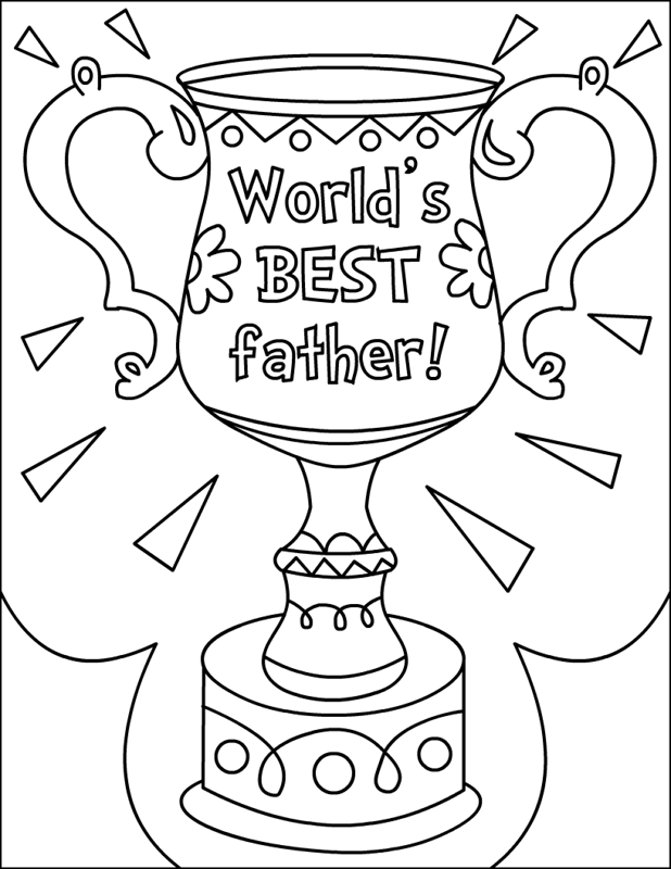 Worlds Best Fathers Day Coloring Page