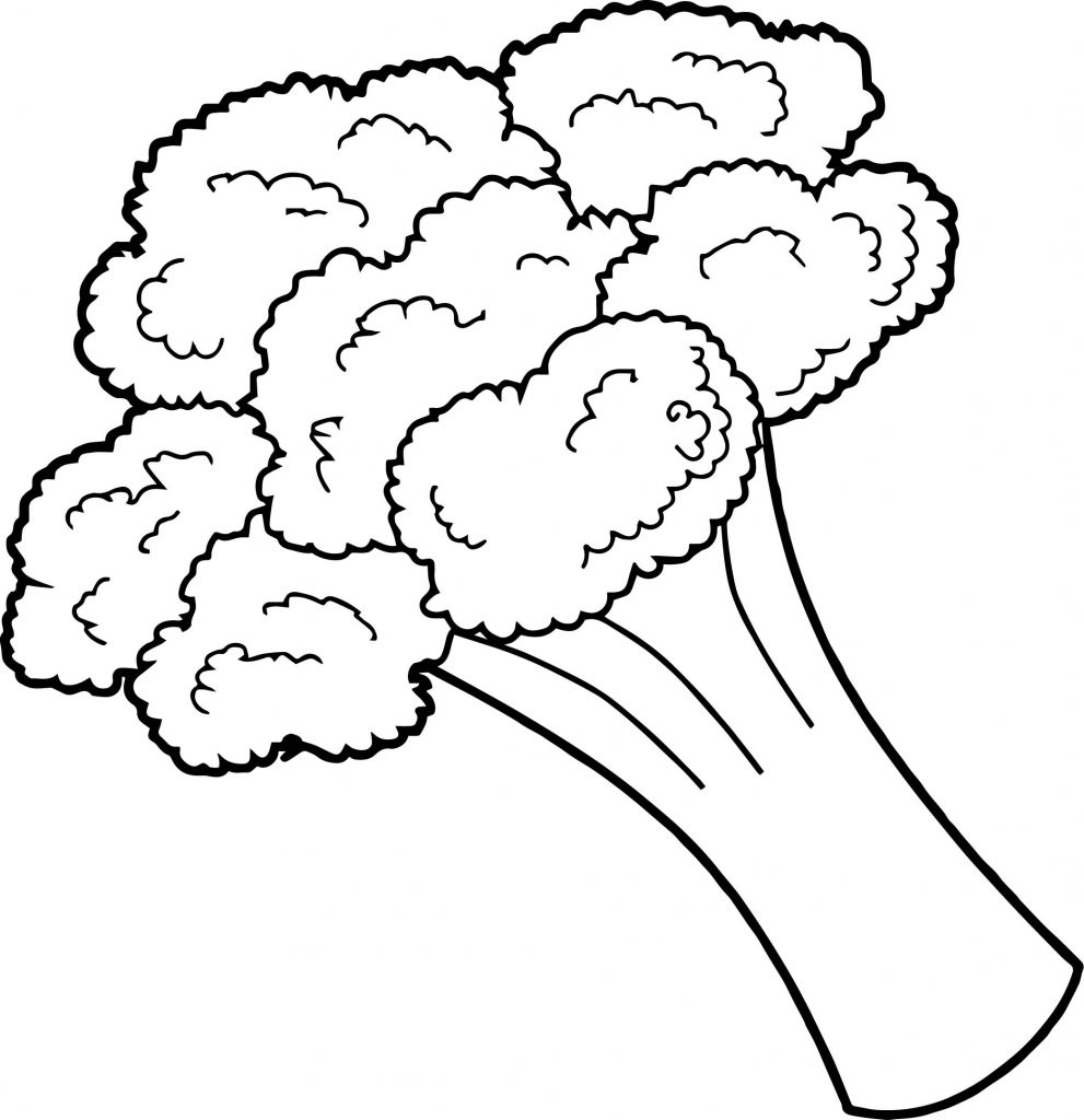 Broccoli Vegetable Coloring Pages
