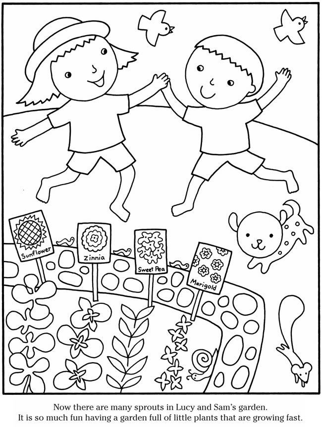 Cute Gardening Coloring Pages