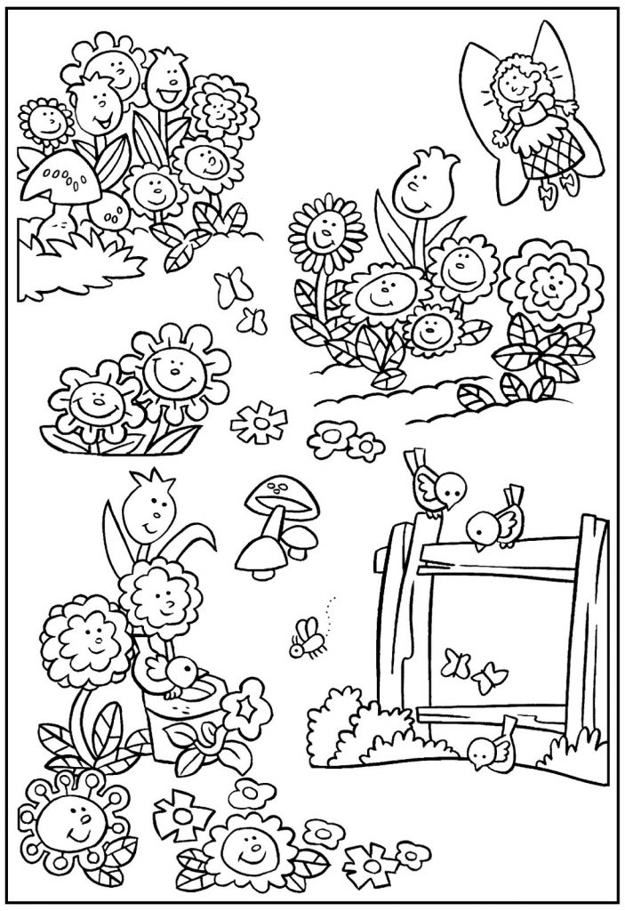 Fairy Gardening Coloring Pages