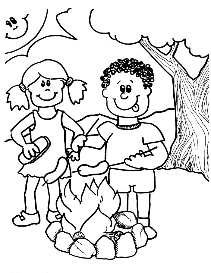 It's just an image of Old Fashioned Free Printable Camping Coloring Pages