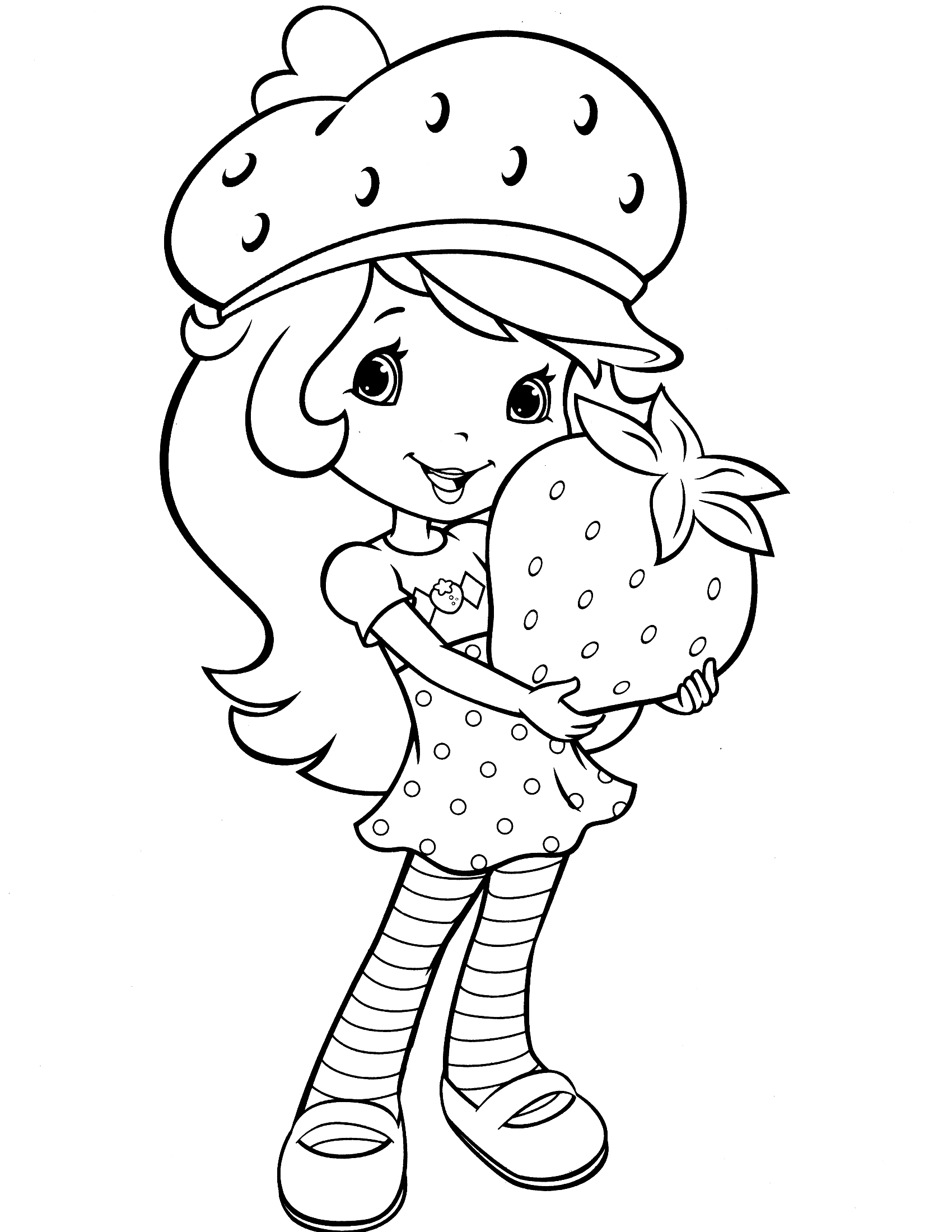 strawberry shortcake coloring pages free - photo#11