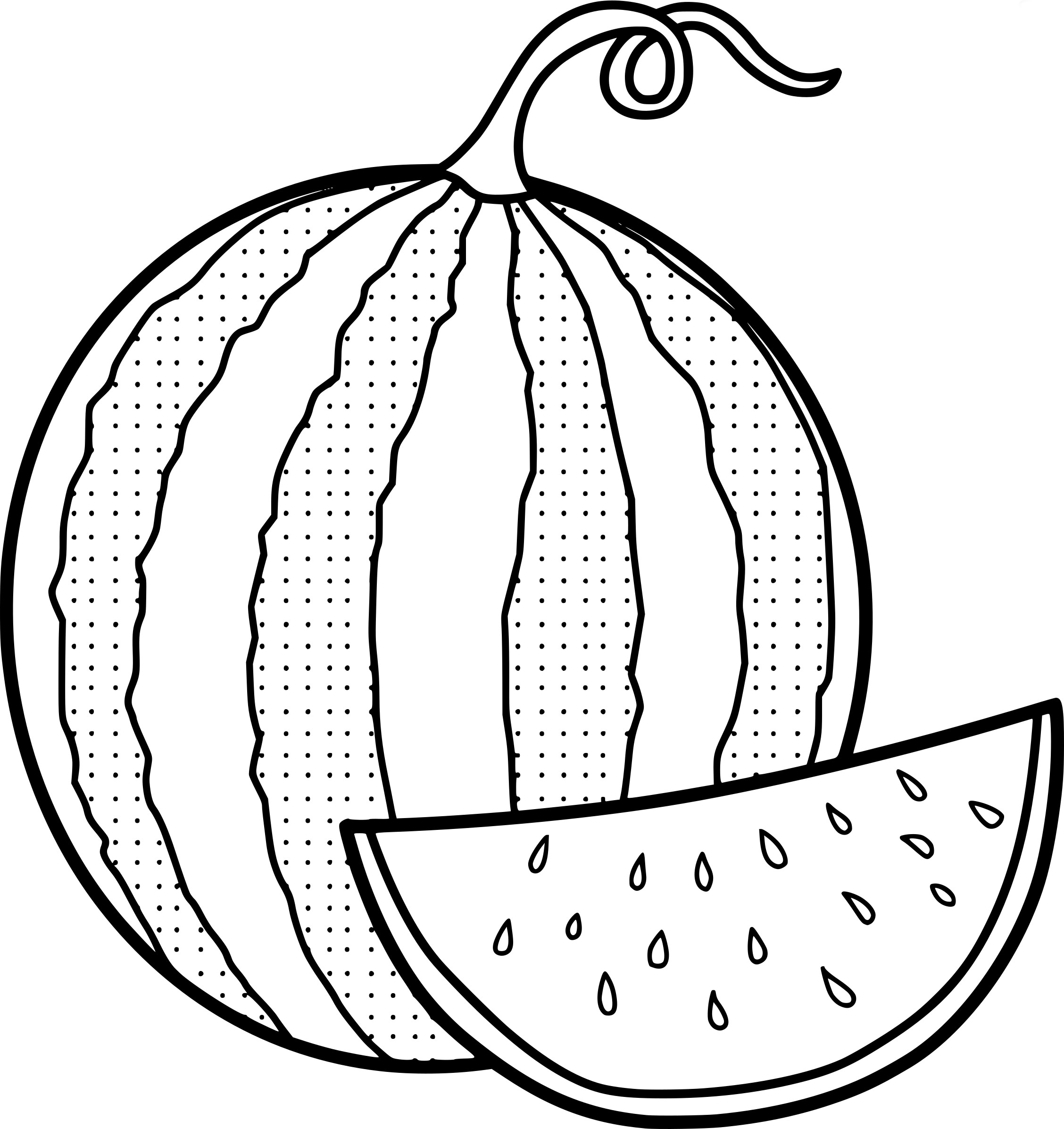 Watermelon Coloring Pages Best
