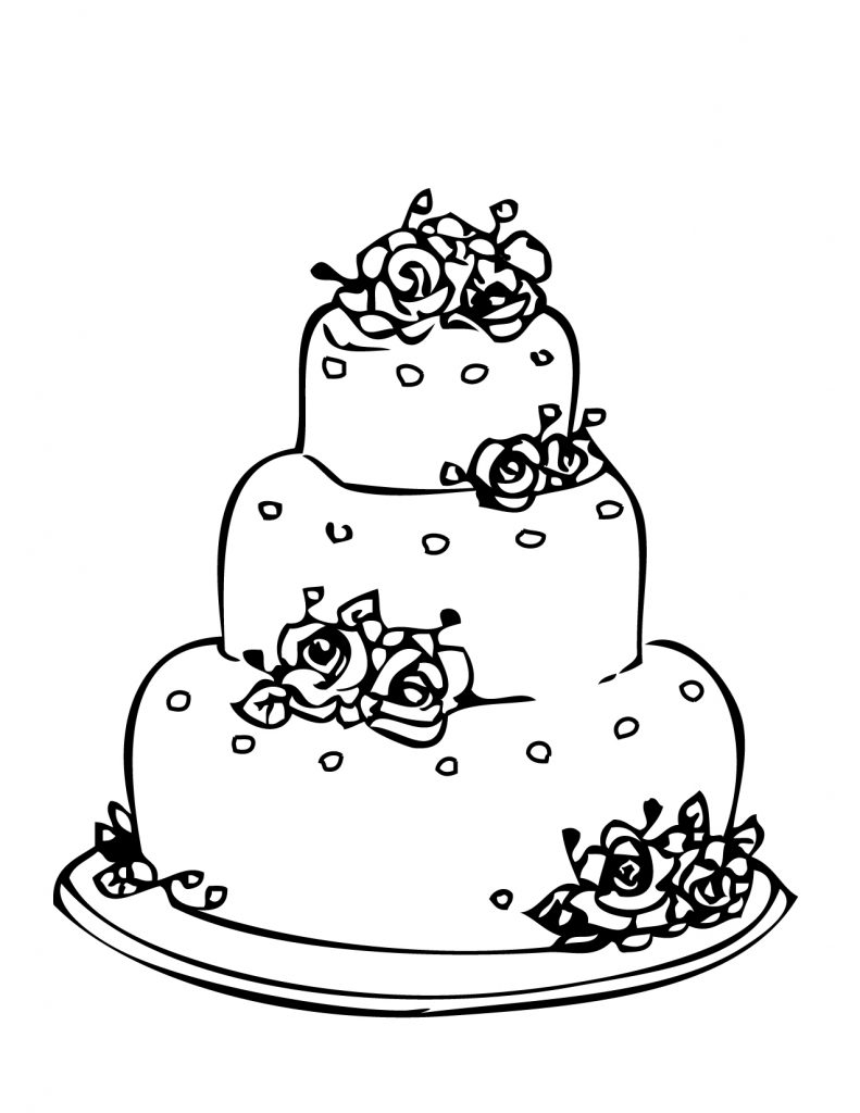 Free Wedding Cake Coloring Pages
