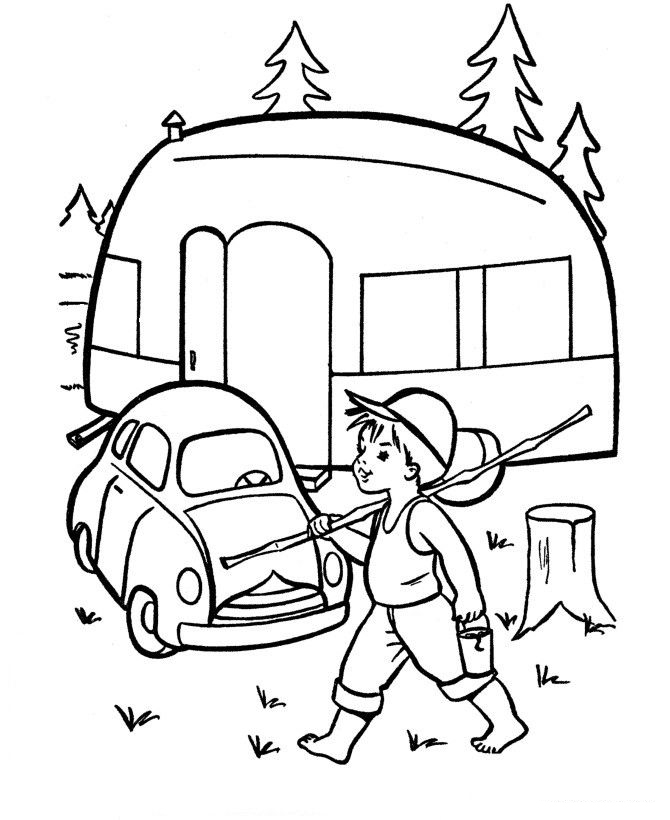Goin Fishin Coloring Page