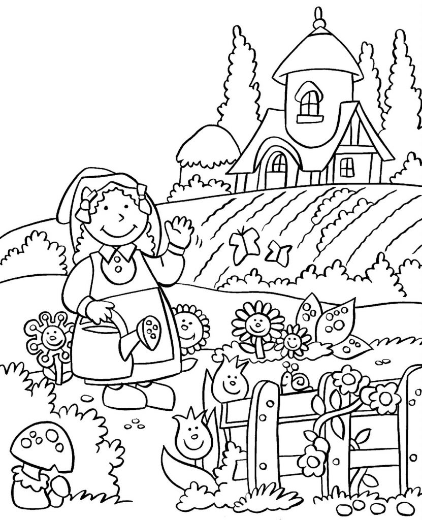 Happy Gardening Coloring Pages